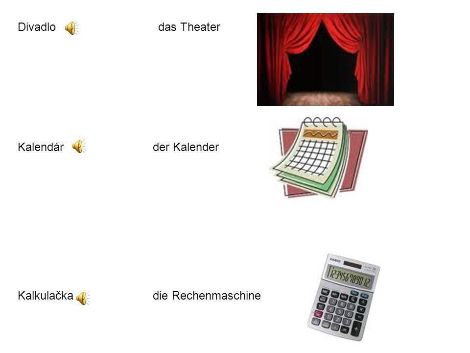 Divadlo das Theater Kalendár der Kalender.