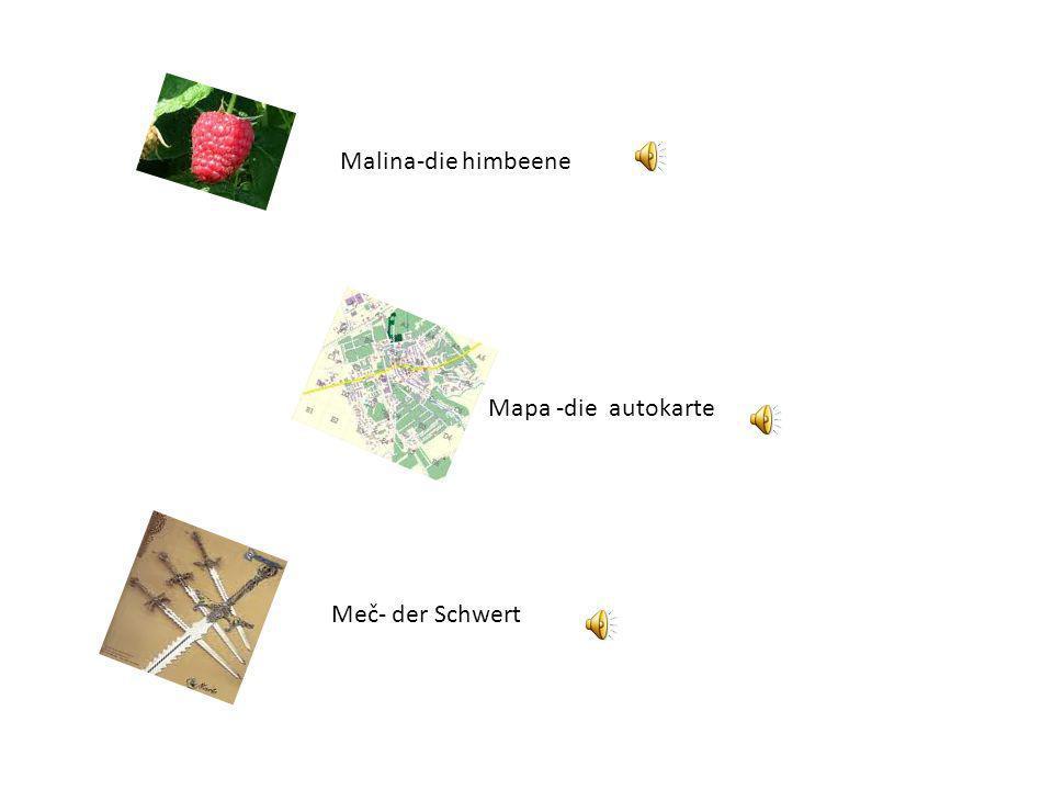 Malina-die himbeene Mapa -die autokarte Meč- der Schwert