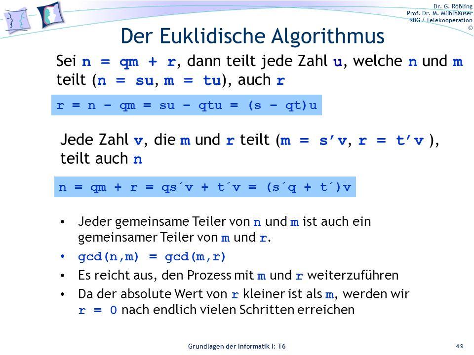 Der Euklidische Algorithmus