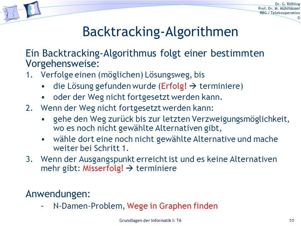 Backtracking-Algorithmen