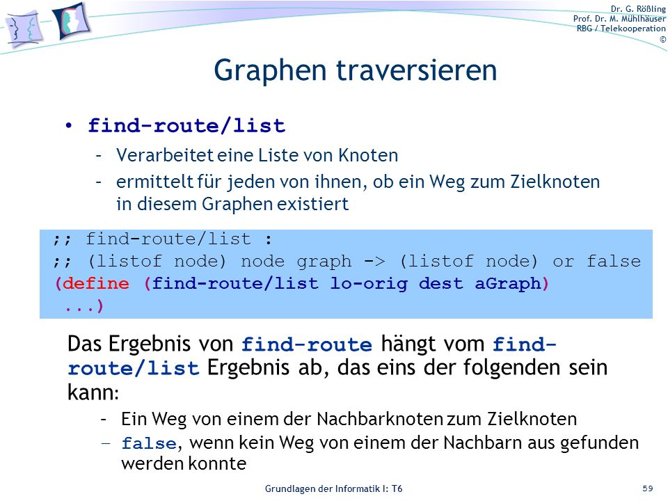 Graphen traversieren find-route/list