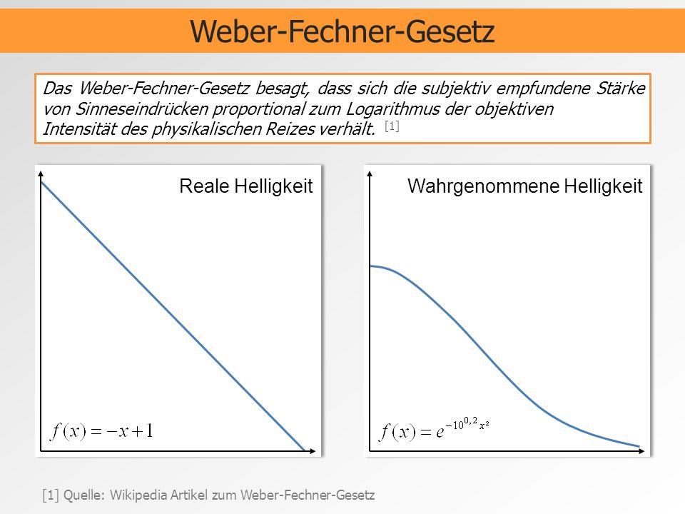 Weber-Fechner-Gesetz