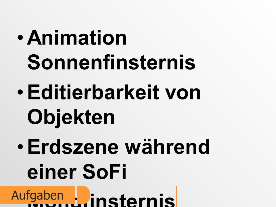Animation Sonnenfinsternis Editierbarkeit von Objekten