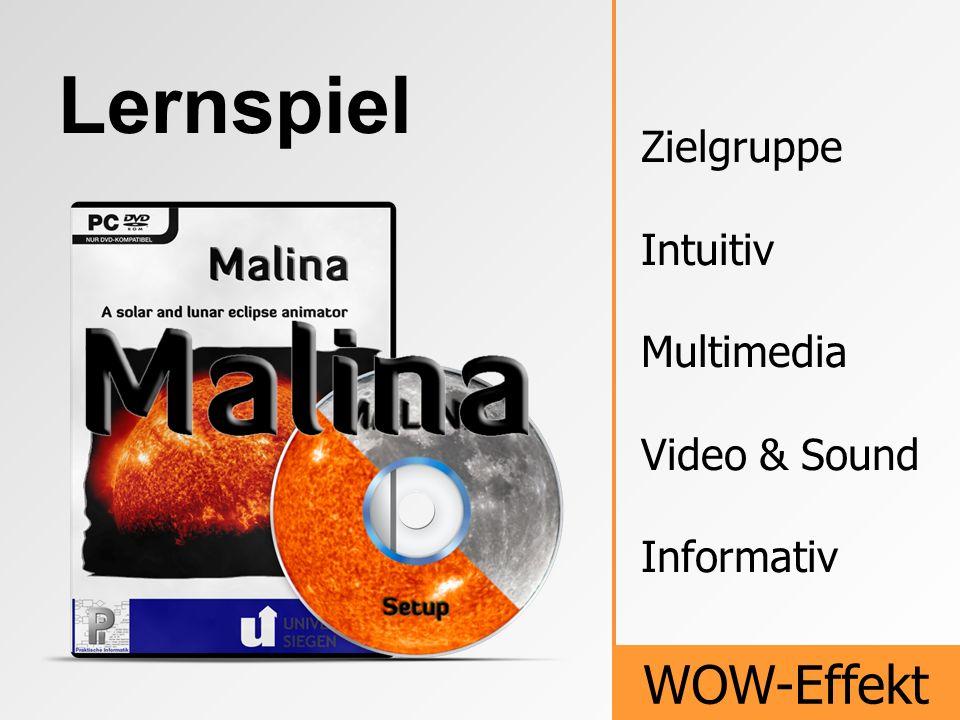 Lernspiel WOW-Effekt Zielgruppe Intuitiv Multimedia Video & Sound