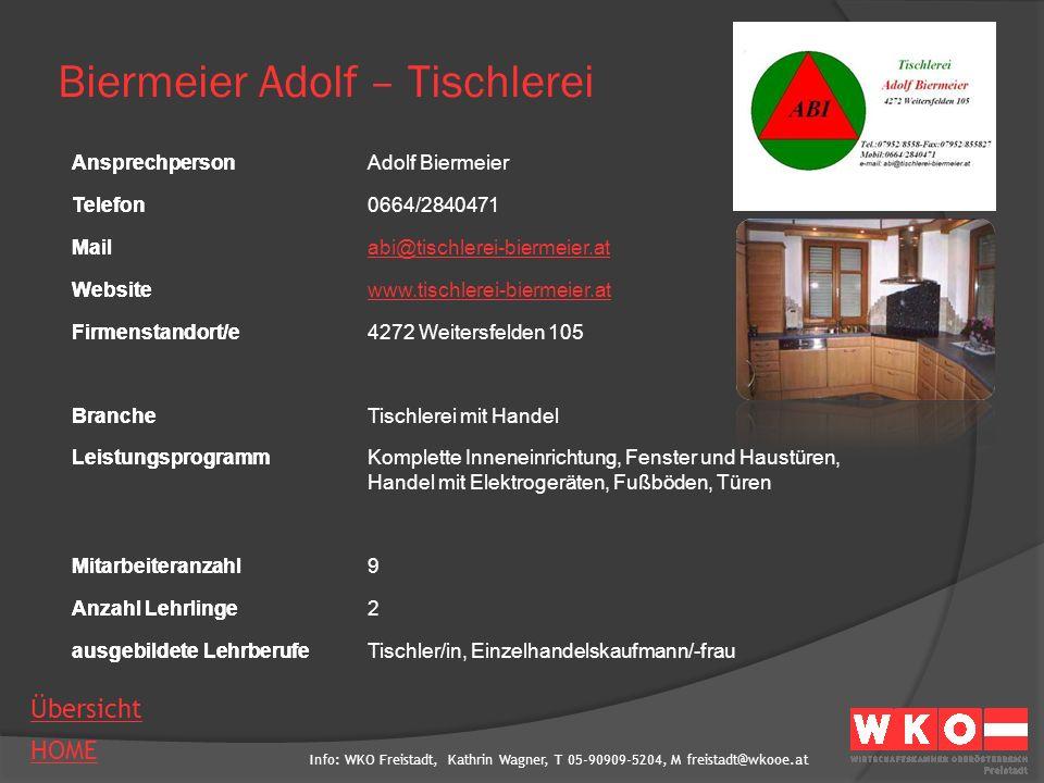 Biermeier Adolf – Tischlerei