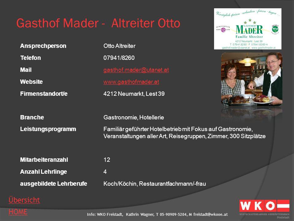 Gasthof Mader - Altreiter Otto