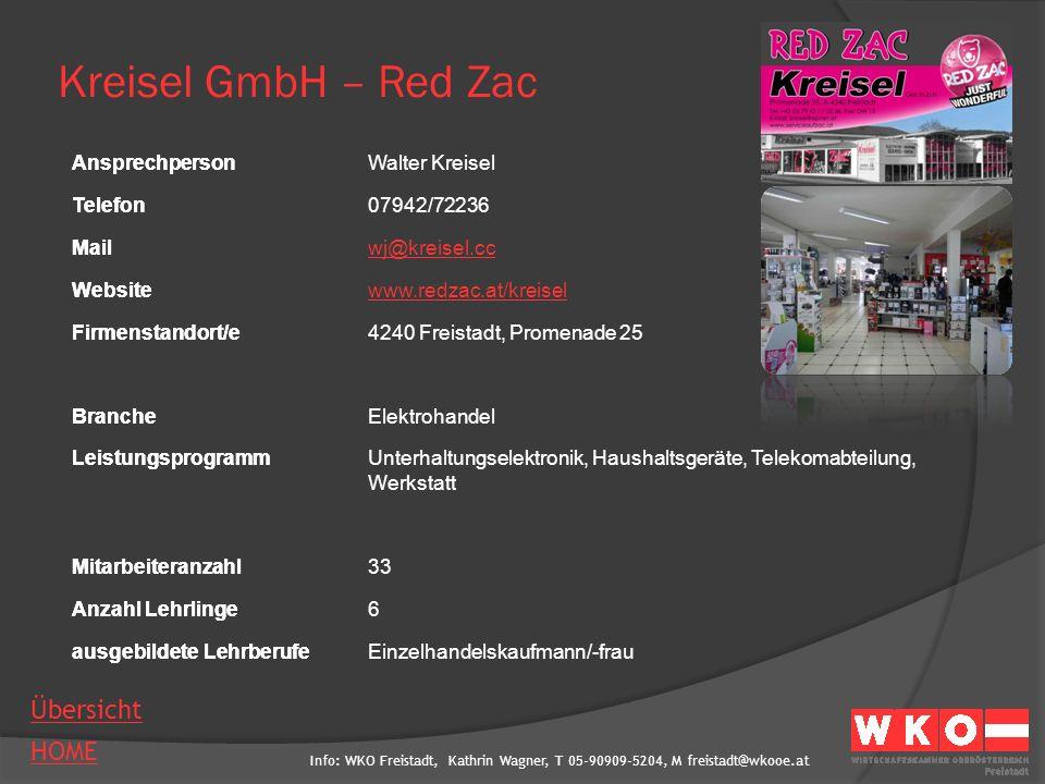 Kreisel GmbH – Red Zac Ansprechperson Walter Kreisel Telefon