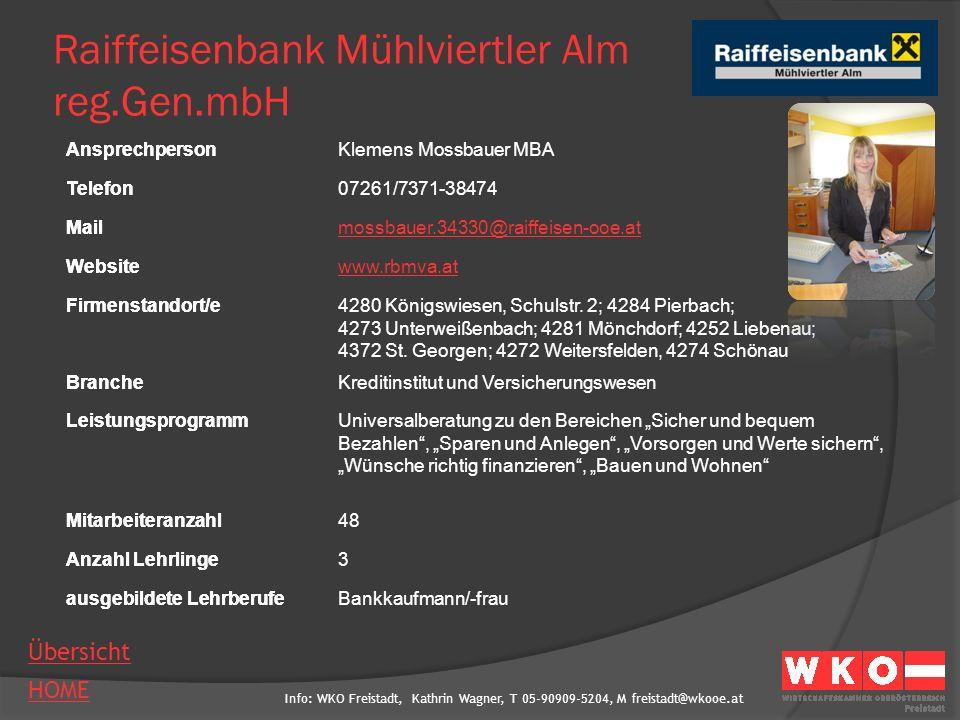Raiffeisenbank Mühlviertler Alm reg.Gen.mbH
