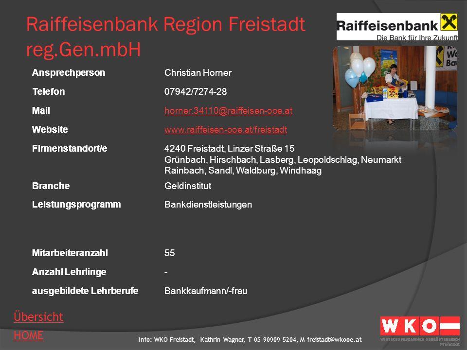 Raiffeisenbank Region Freistadt reg.Gen.mbH