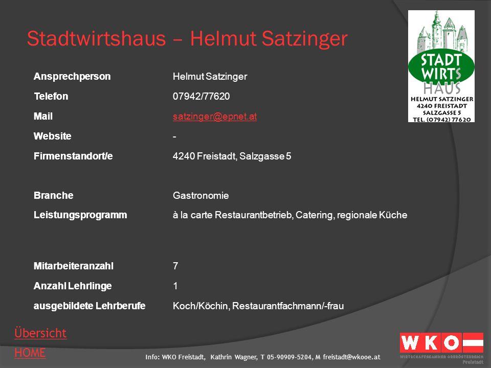 Stadtwirtshaus – Helmut Satzinger