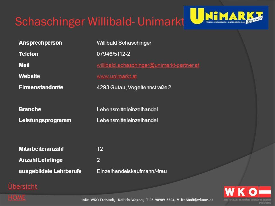 Schaschinger Willibald- Unimarkt