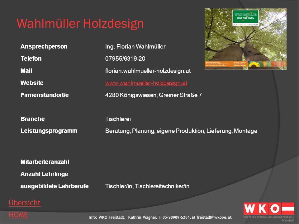 Wahlmüller Holzdesign