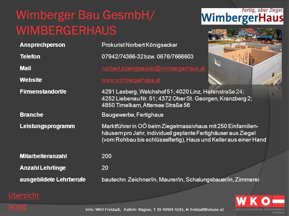 Wimberger Bau GesmbH/ WIMBERGERHAUS
