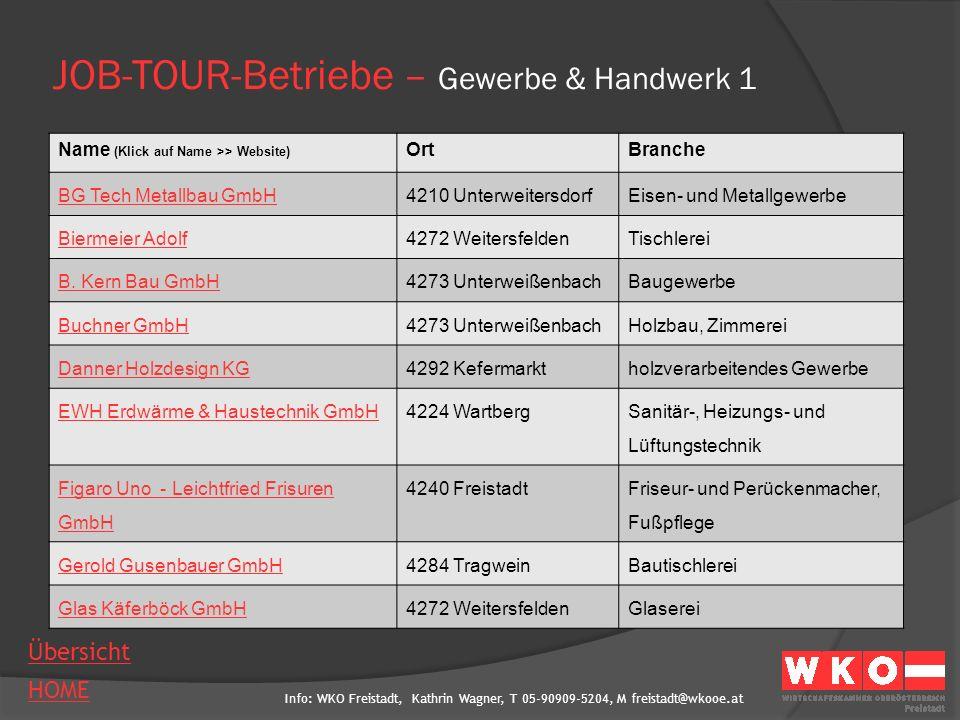 JOB-TOUR-Betriebe – Gewerbe & Handwerk 1