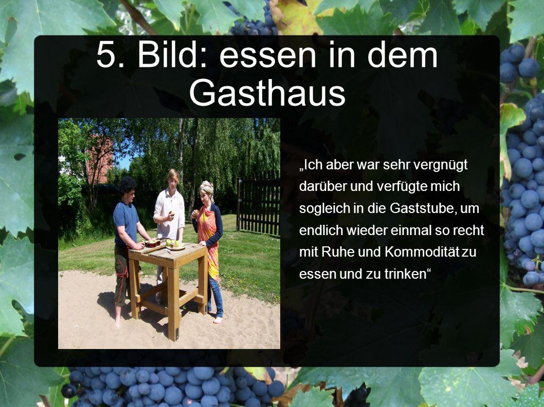 5. Bild: essen in dem Gasthaus