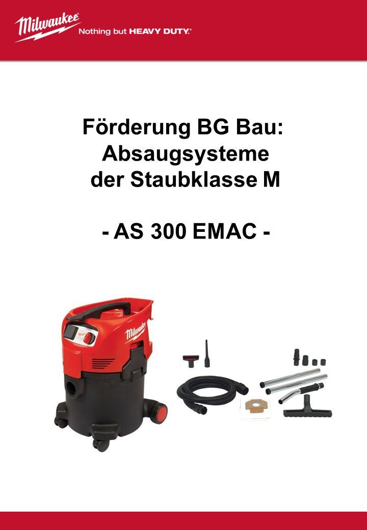 Förderung BG Bau: Absaugsysteme der Staubklasse M - AS 300 EMAC -