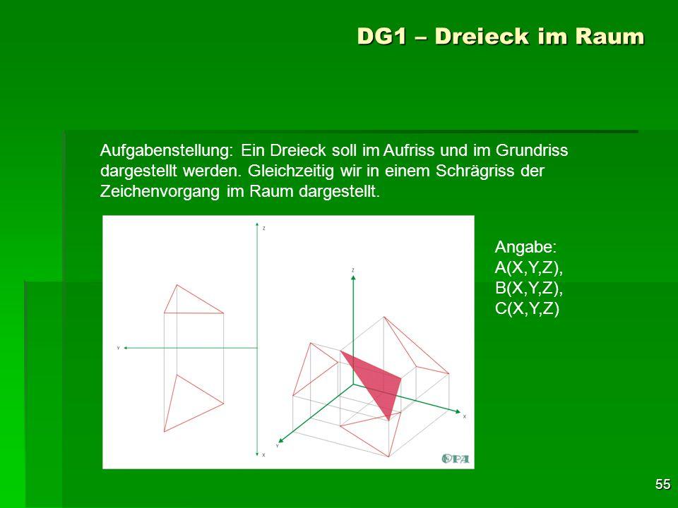 DG1 – Dreieck im Raum