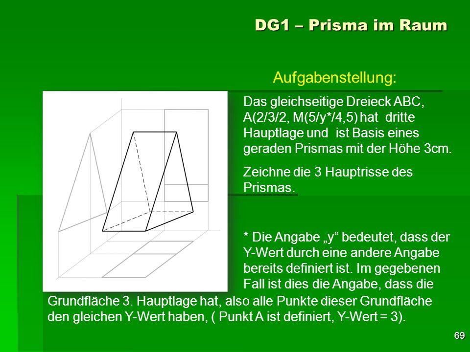 DG1 – Prisma im Raum Aufgabenstellung: