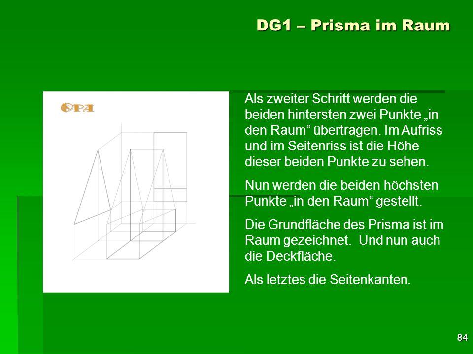 DG1 – Prisma im Raum