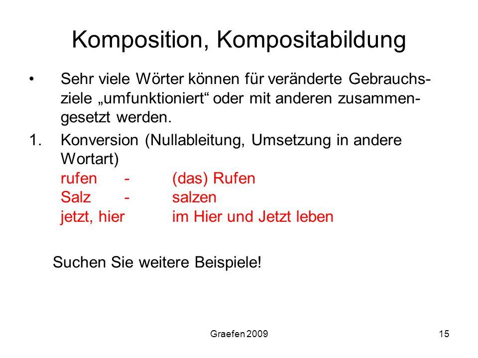 Komposition, Kompositabildung