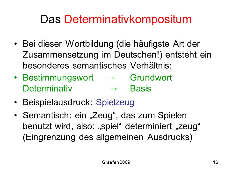 Das Determinativkompositum