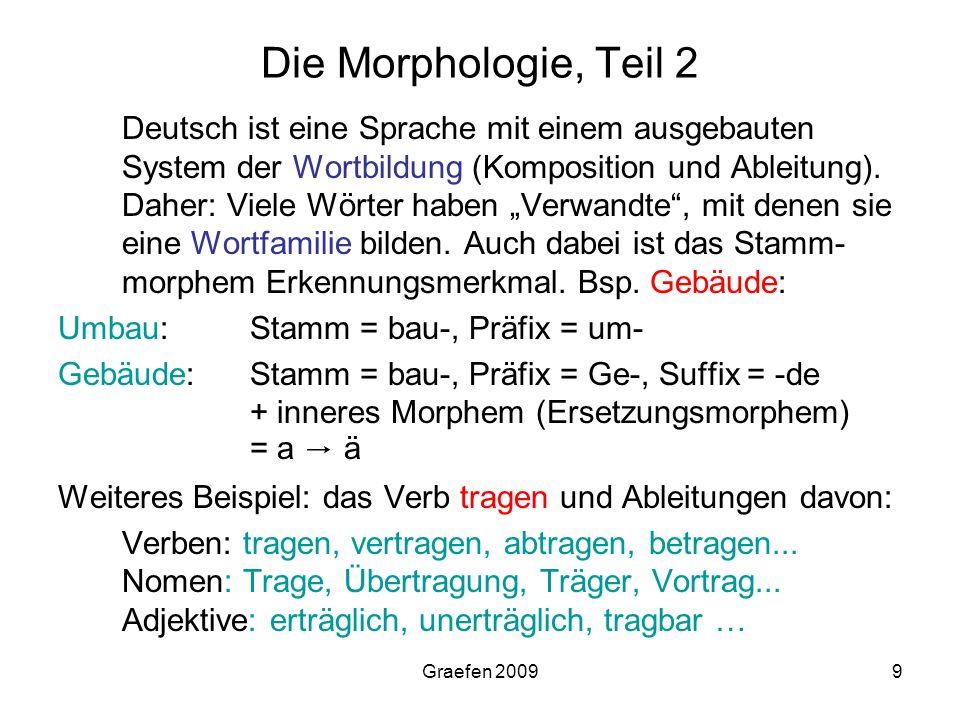 Die Morphologie, Teil 2