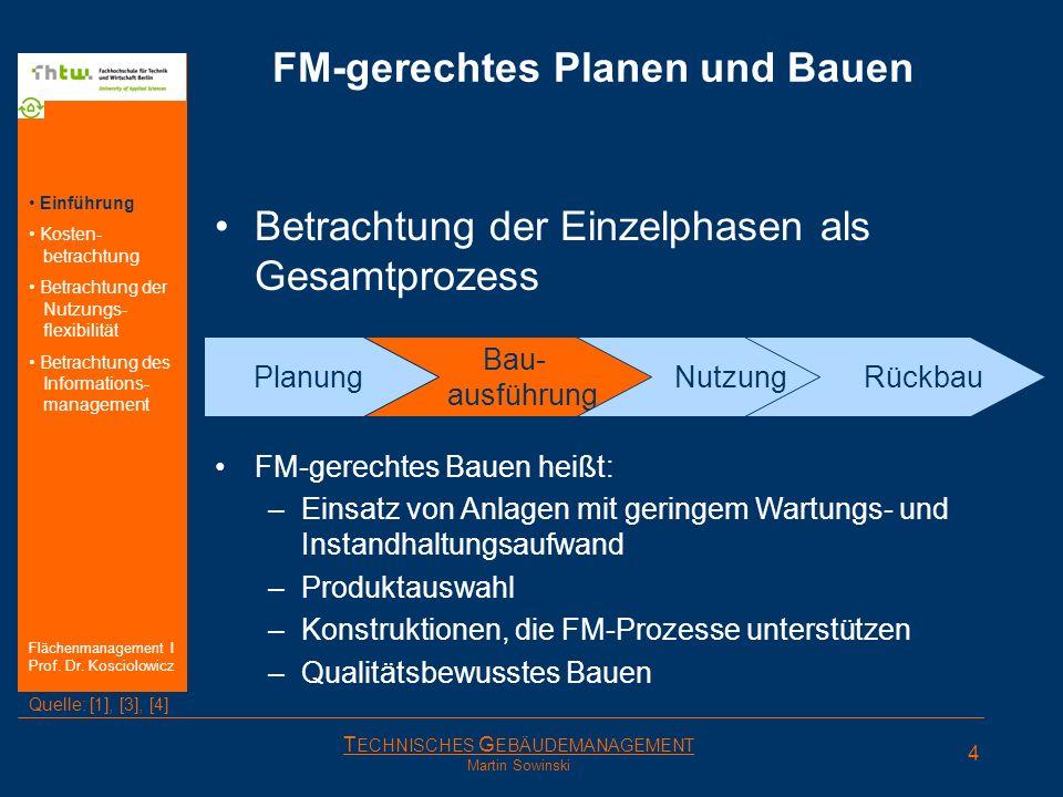 FM-gerechtes Planen und Bauen