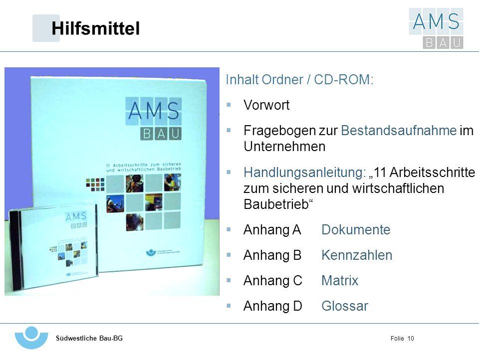 Hilfsmittel Inhalt Ordner / CD-ROM: Vorwort