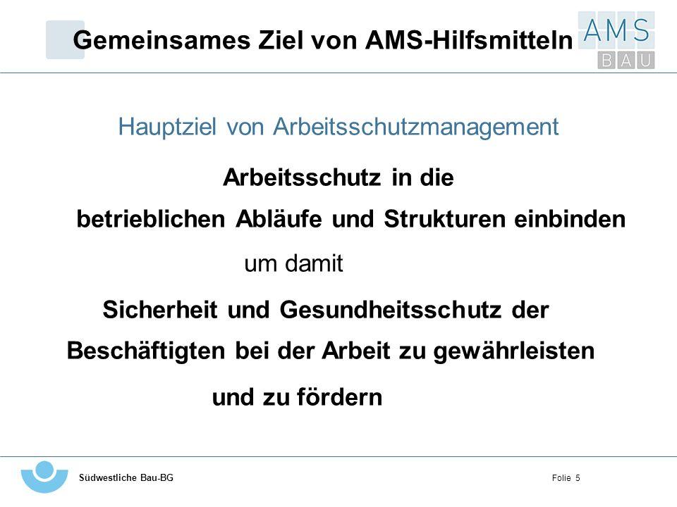Gemeinsames Ziel von AMS-Hilfsmitteln