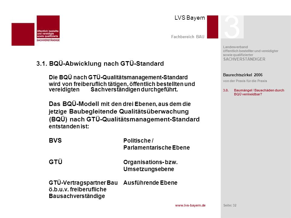 3 3.1. BQÜ-Abwicklung nach GTÜ-Standard