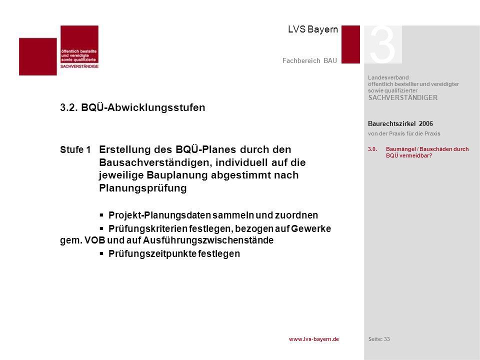 3 3.2. BQÜ-Abwicklungsstufen