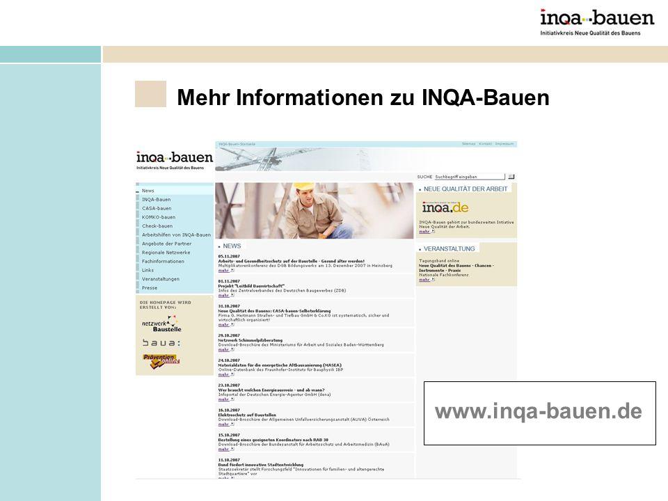Mehr Informationen zu INQA-Bauen
