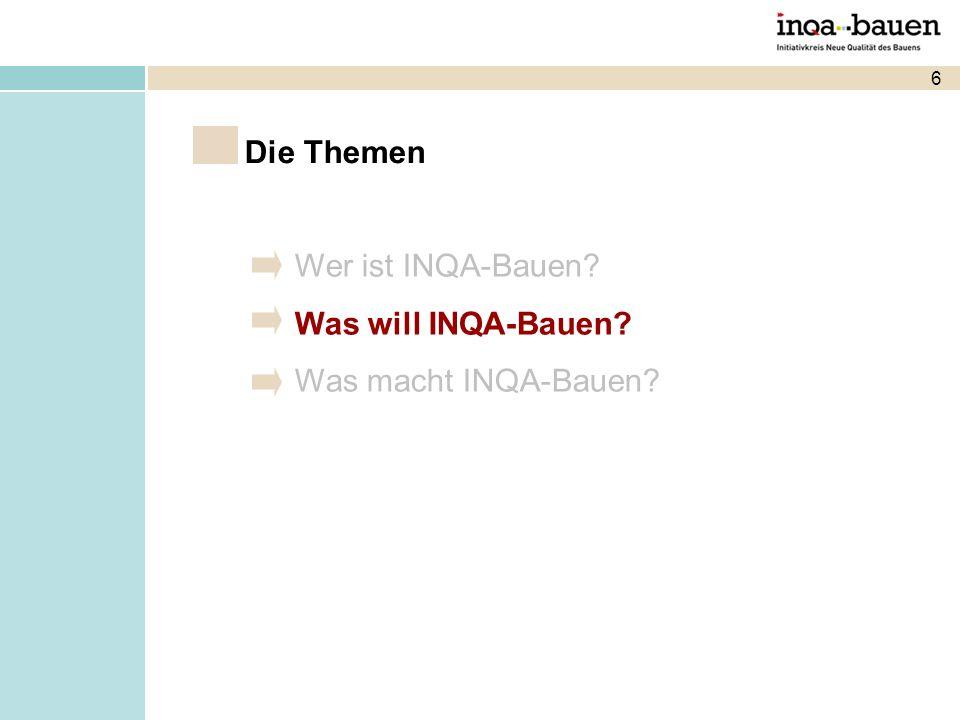 Die Themen Wer ist INQA-Bauen Was will INQA-Bauen