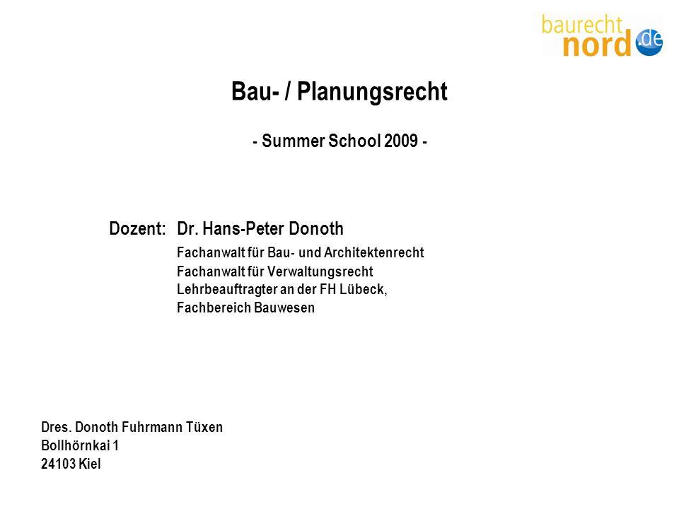 Bau- / Planungsrecht - Summer School 2009 -