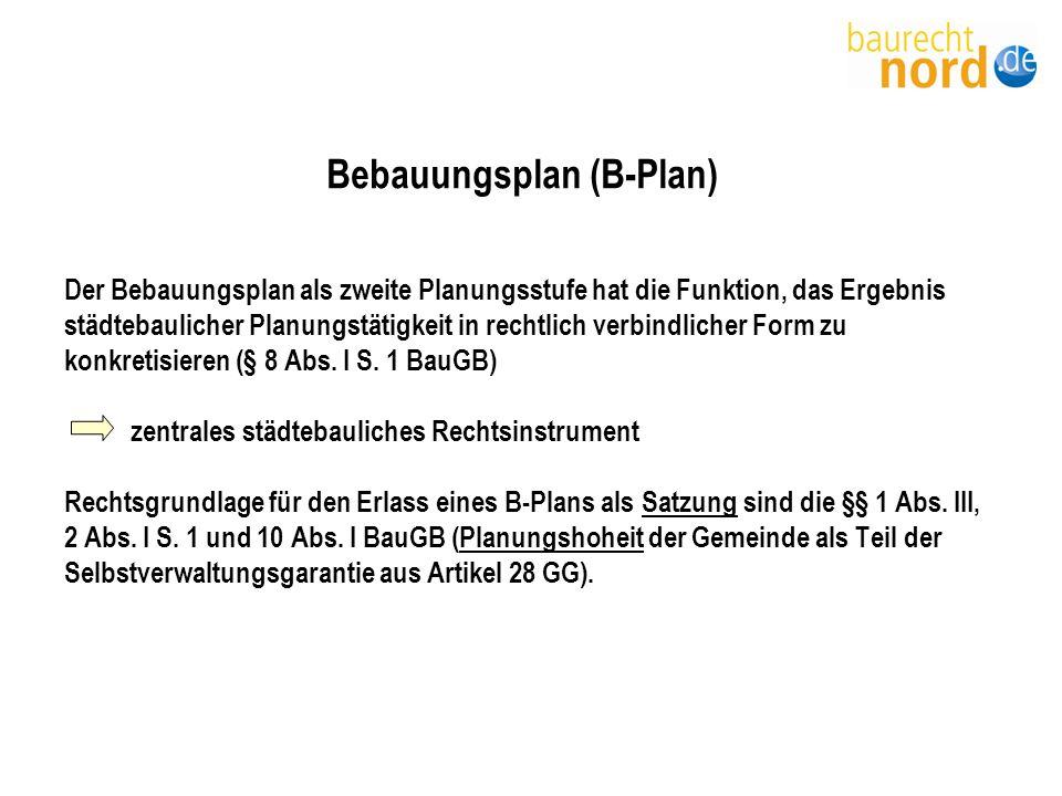 Bebauungsplan (B-Plan)