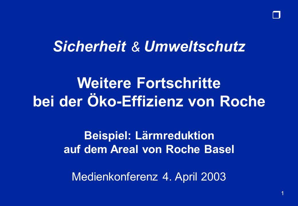 Weitere Fortschritte bei der Öko-Effizienz von Roche