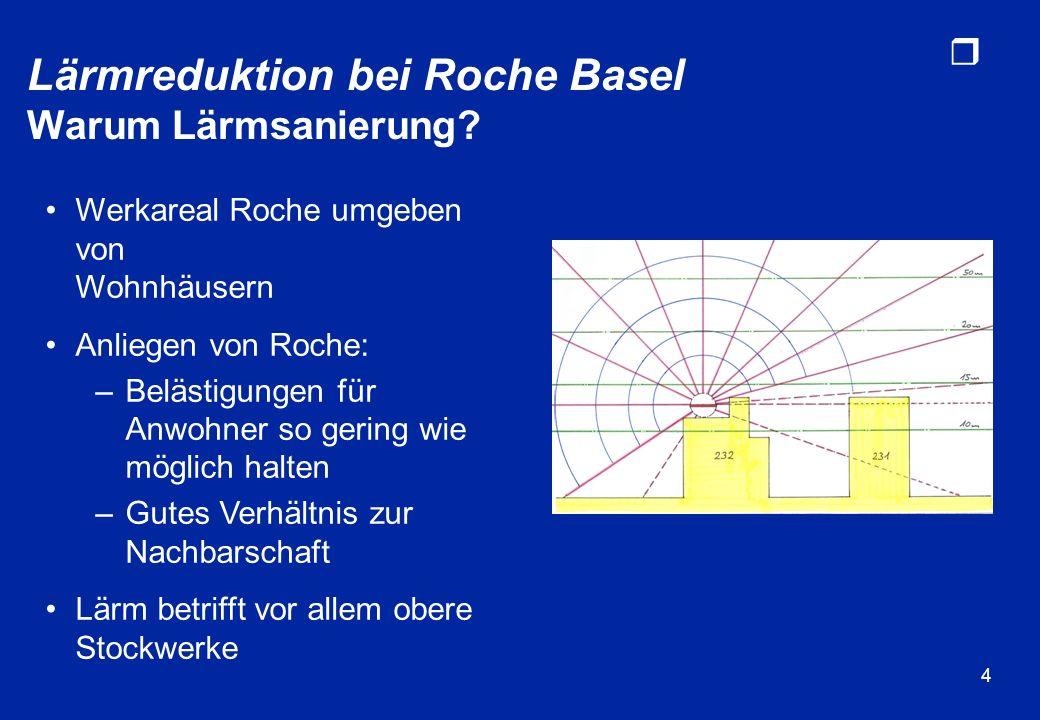 Lärmreduktion bei Roche Basel Warum Lärmsanierung