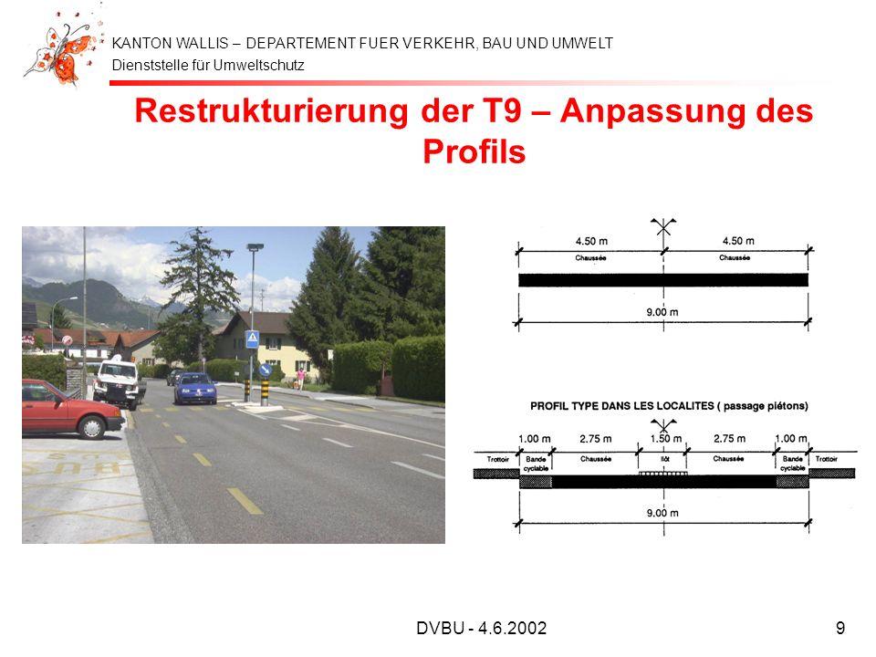 Restrukturierung der T9 – Anpassung des Profils