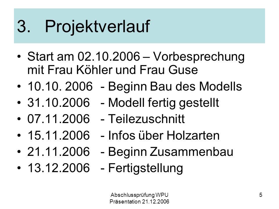 Abschlussprüfung WPU Präsentation 21.12.2006