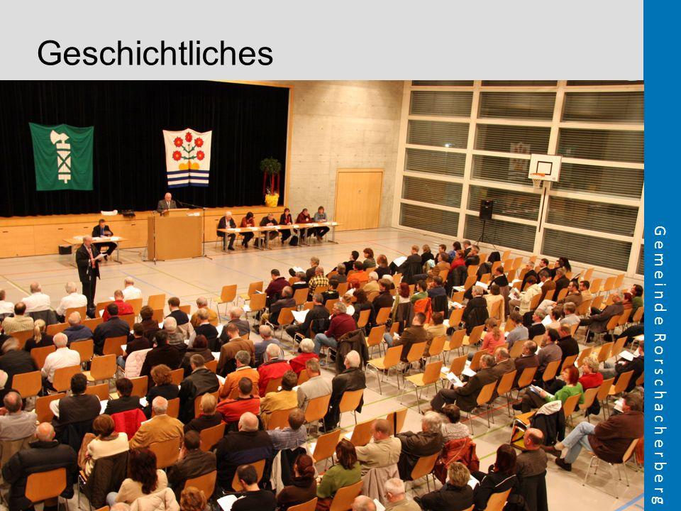 Geschichtliches FOLIE VORGESCHICHTE Bild Bürgerversammlung 2008 (Marcel) Seit langem sind Diskussionen zum Thema Einheitsgemeinde im Gange.