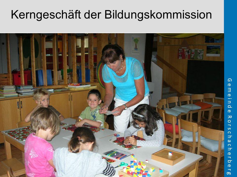 Kerngeschäft der Bildungskommission