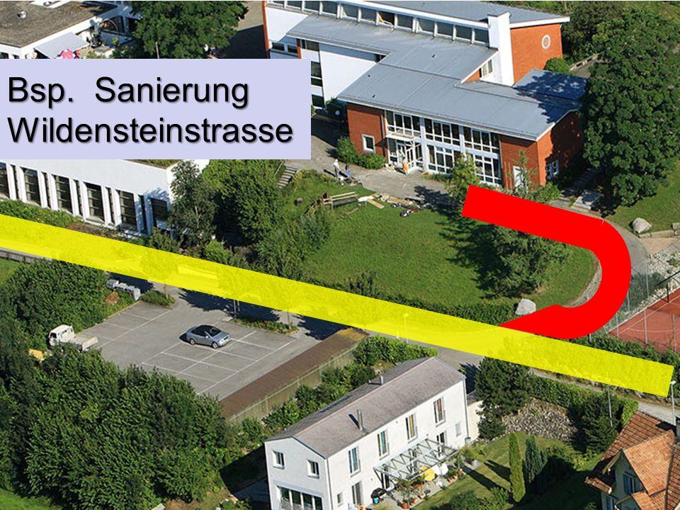 Bsp. Sanierung Wildensteinstrasse