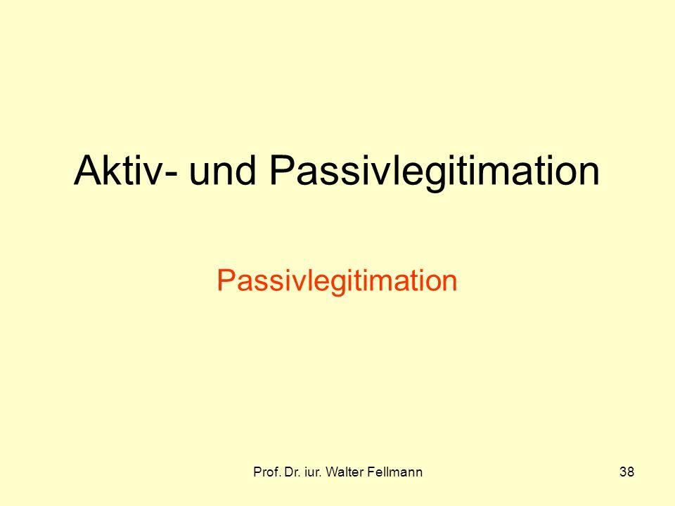 Aktiv- und Passivlegitimation