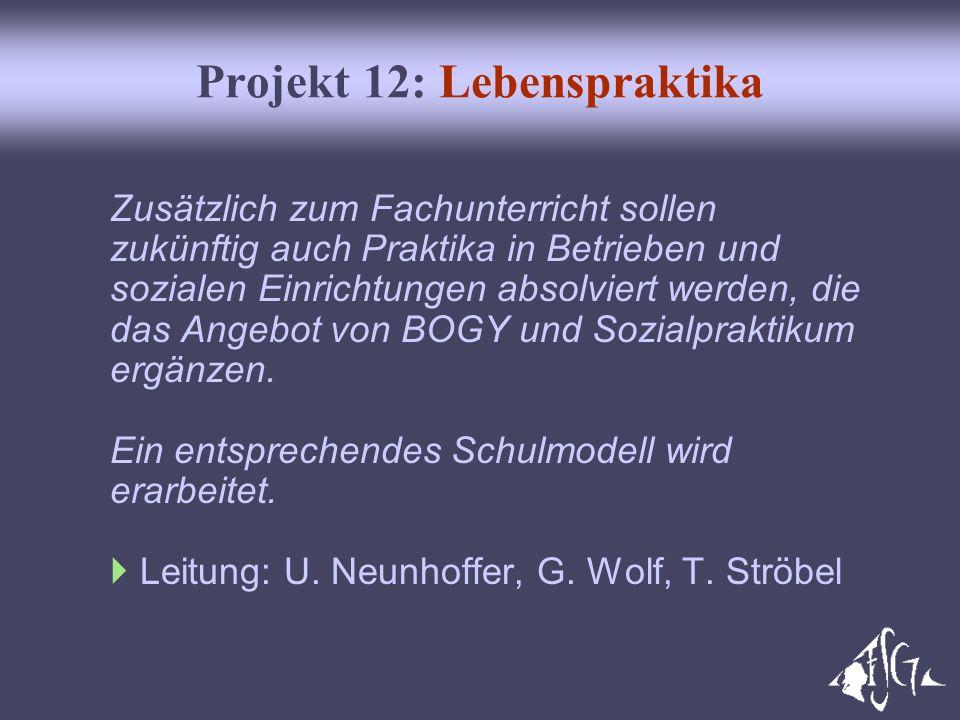 Projekt 12: Lebenspraktika