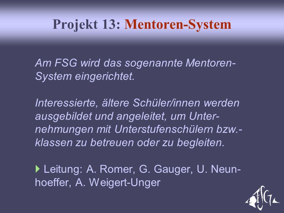 Projekt 13: Mentoren-System