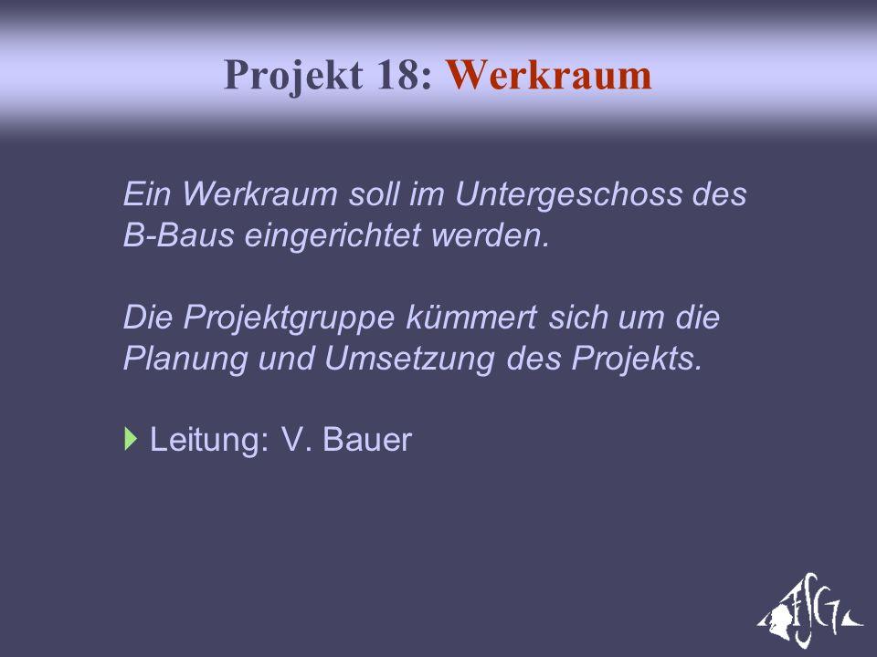 Projekt 18: Werkraum