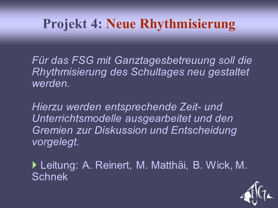 Projekt 4: Neue Rhythmisierung