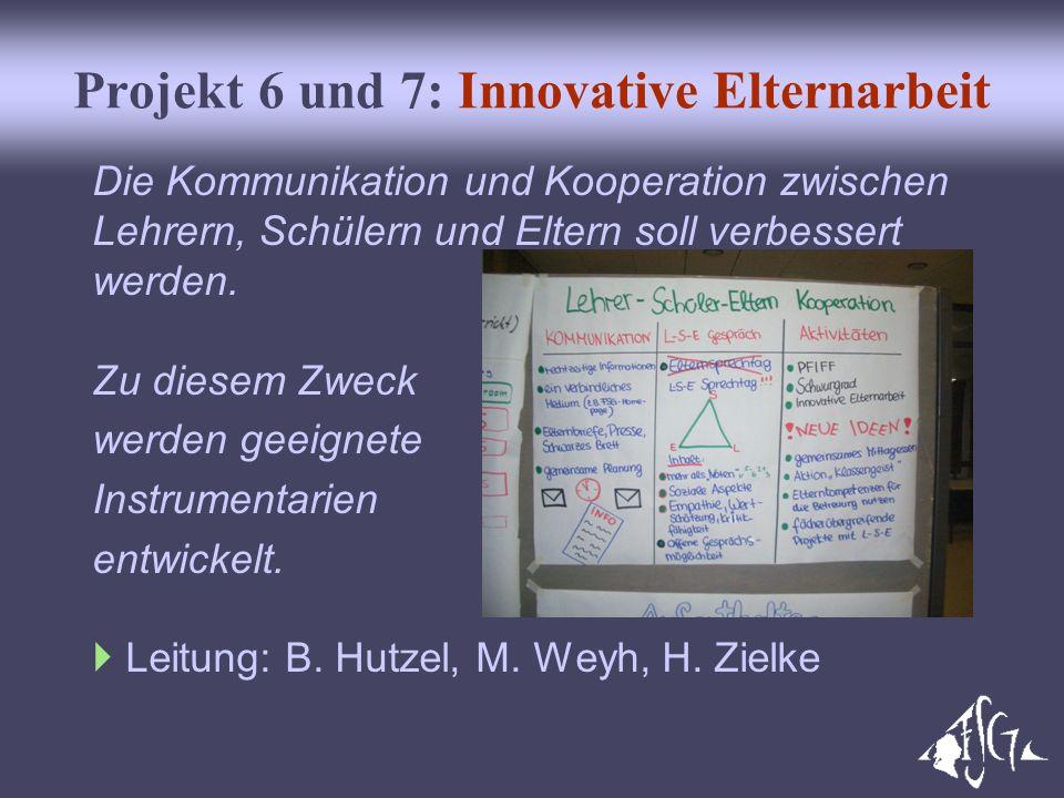 Projekt 6 und 7: Innovative Elternarbeit