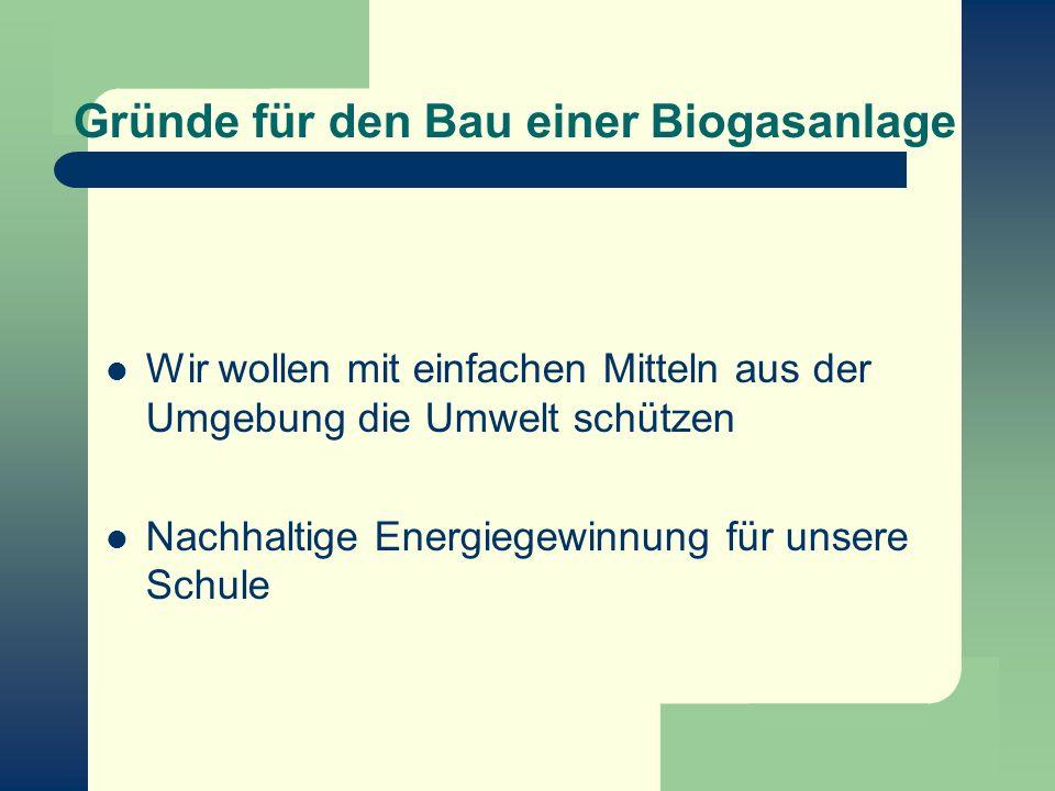 Gründe für den Bau einer Biogasanlage