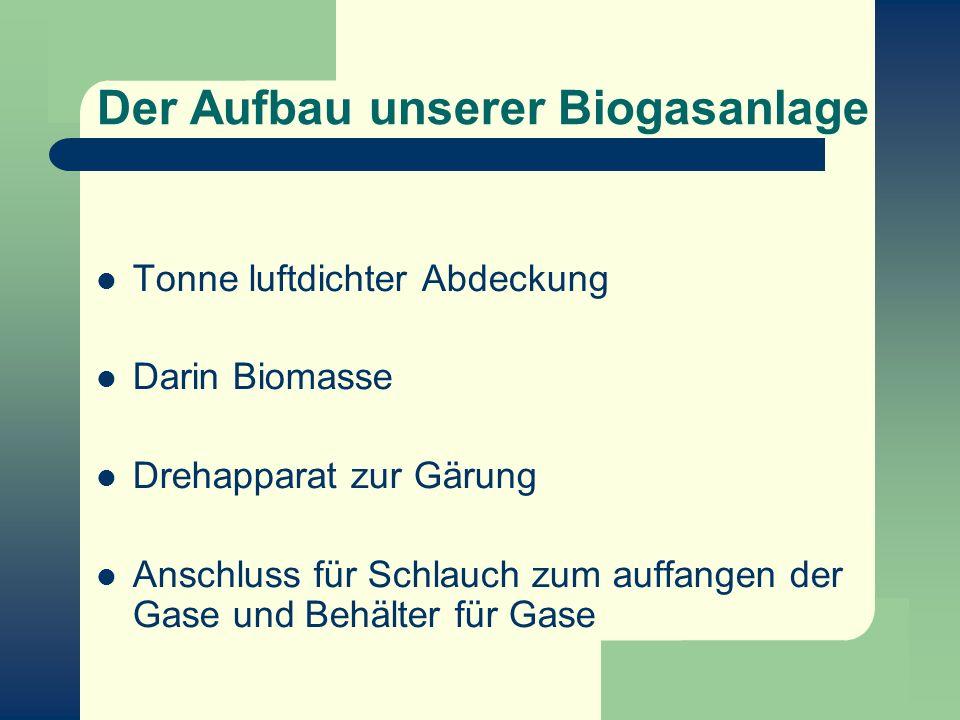 Der Aufbau unserer Biogasanlage